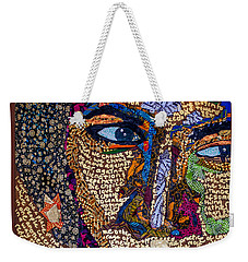 Weekender Tote Bag featuring the tapestry - textile Bell Hooks Unscripted by Apanaki Temitayo M