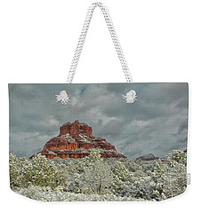 Weekender Tote Bag featuring the photograph Bell In Winter by Tom Kelly