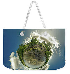 Bell Slip Sunrise - Tiny Planet Weekender Tote Bag