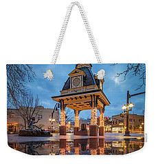 Bell Tower  In Beaver  Weekender Tote Bag by Emmanuel Panagiotakis