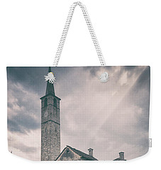 Weekender Tote Bag featuring the photograph Bell Tower In Italian Village by Silvia Ganora