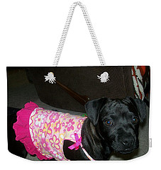 Bella In Swimsuit Weekender Tote Bag by Jewel Hengen