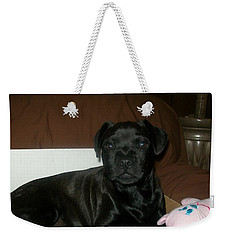 Weekender Tote Bag featuring the photograph Bella by Jewel Hengen