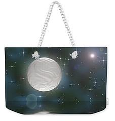 Weekender Tote Bag featuring the digital art Bella Luna by Wendy J St Christopher