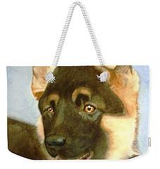 Weekender Tote Bag featuring the painting Bella by Marilyn Jacobson