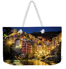 Riomaggiore At Night Weekender Tote Bag