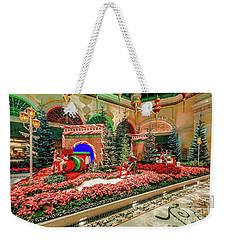 Bellagio Christmas Train Decorations Angled 2017 Weekender Tote Bag