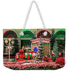 Bellagio Christmas Train Decorations Panorama 2017 Weekender Tote Bag