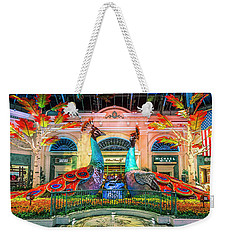 Bellagio Conservatory Fall Peacock Display Panorama 3 To 1 Ratio Weekender Tote Bag