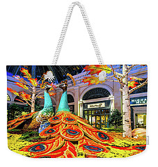 Bellagio Conservatory Fall Peacock Display Side View  Weekender Tote Bag