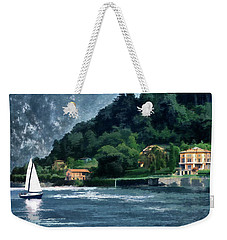 Weekender Tote Bag featuring the photograph Bellagio Villa by Jim Hill