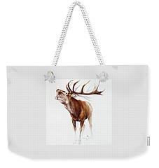 Belling Stag Watercolor Weekender Tote Bag
