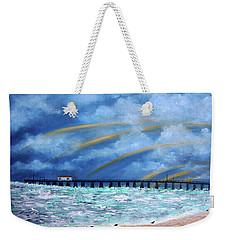 Belmar's Fishing Pier Weekender Tote Bag