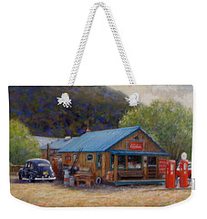 Weekender Tote Bag featuring the painting Below Taos 2 by Donelli  DiMaria
