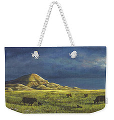 Weekender Tote Bag featuring the painting Belt Butte Spring by Kim Lockman