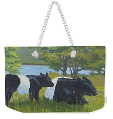 Belted Galloway And Calf Weekender Tote Bag