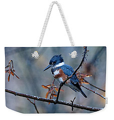 Belted Kingfisher Perch Weekender Tote Bag