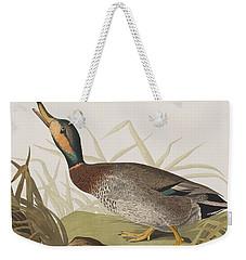 Bemaculated Duck Weekender Tote Bag by John James Audubon