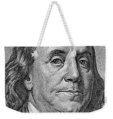 Weekender Tote Bag featuring the photograph Ben Franklin by Les Cunliffe