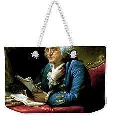 Ben Franklin Weekender Tote Bag by War Is Hell Store