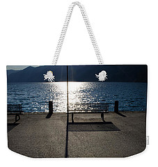 Bench And Street Lamp Weekender Tote Bag
