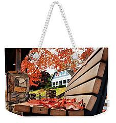 Bench Leaves Weekender Tote Bag
