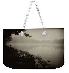 Bench On Sweet Arrow Lake Weekender Tote Bag by Hugh Smith
