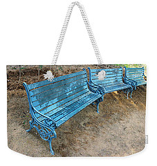 Benches And Blues Weekender Tote Bag by Prakash Ghai