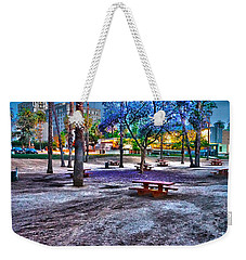 Benches Day In The Park Weekender Tote Bag