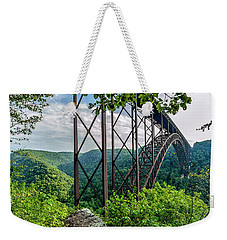 Beneath New River Gorge Bridge Weekender Tote Bag