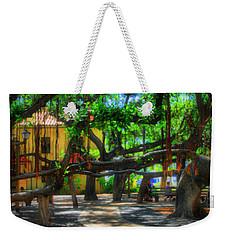 Beneath The Banyan Tree Weekender Tote Bag by DJ Florek