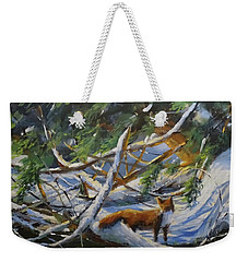 Beneath The Cedars Weekender Tote Bag by Sandra Strohschein