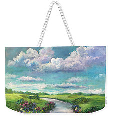 Beneath The Clouds Of Paradise Weekender Tote Bag by Randy Burns