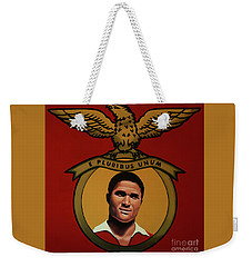 Benfica Lisbon Painting Weekender Tote Bag by Paul Meijering