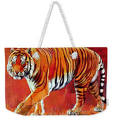 Bengal Tiger  Weekender Tote Bag by Mark Adlington