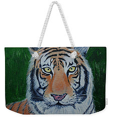Weekender Tote Bag featuring the painting Bengal Tiger by Stacy C Bottoms