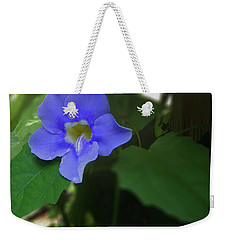Bengal Trumpet Flower Blue Tones Weekender Tote Bag