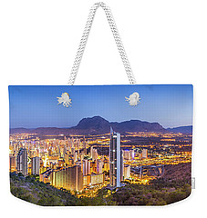 Benidorm At Sunrise, Spain. Weekender Tote Bag