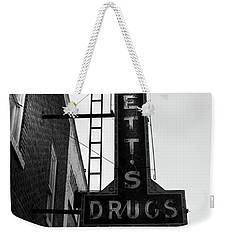 Bennett's Drugs In Black And White Weekender Tote Bag