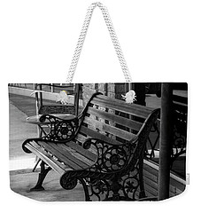 Weekender Tote Bag featuring the photograph Bent Oaks Boutique by Ester Rogers