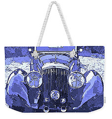Bentley Blue Pop Art P2 Weekender Tote Bag