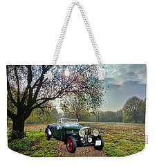 Weekender Tote Bag featuring the photograph Bentley On A Country Road by Ericamaxine Price