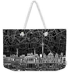 Berlin City Skyline Abstract 4 Weekender Tote Bag by Bekim Art