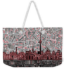 Berlin City Skyline Abstract Weekender Tote Bag by Bekim Art