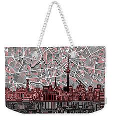 Berlin City Skyline Abstract Weekender Tote Bag