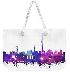 Berlin City Skyline Galaxy Weekender Tote Bag by Bekim Art