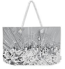 Berlin City Skyline Map 2 Weekender Tote Bag by Bekim Art