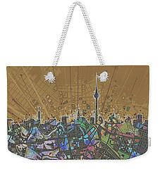 Berlin City Skyline Map 4 Weekender Tote Bag by Bekim Art