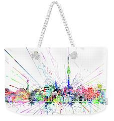 Berlin City Skyline Watercolor 2 Weekender Tote Bag by Bekim Art