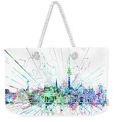 Berlin City Skyline Watercolor 3 Weekender Tote Bag by Bekim Art